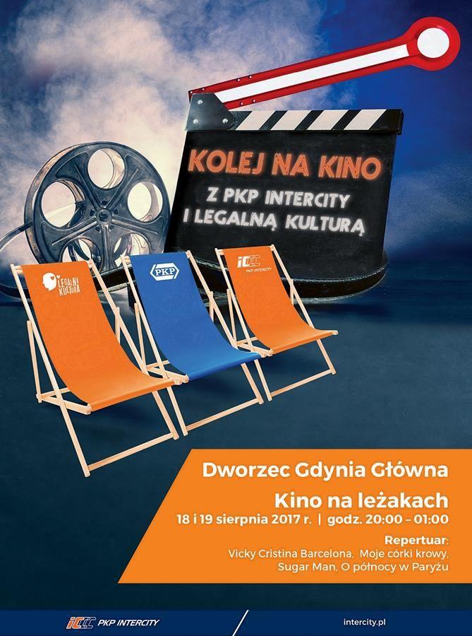 """""""Kolej na kino z PKP Intercity i Legalną Kulturą"""", plakat (źródło: materiały prasowe organizatora)"""