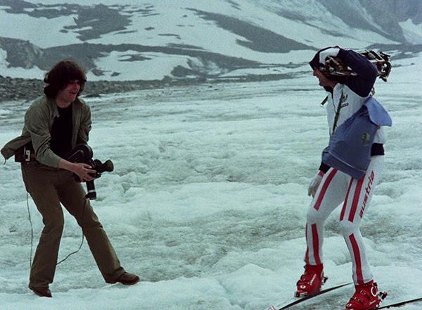 """Kadr z filmu """"Sceny narciarskie z Franzem Klammerem"""" (źródło: materiały prasowe organizatora)"""