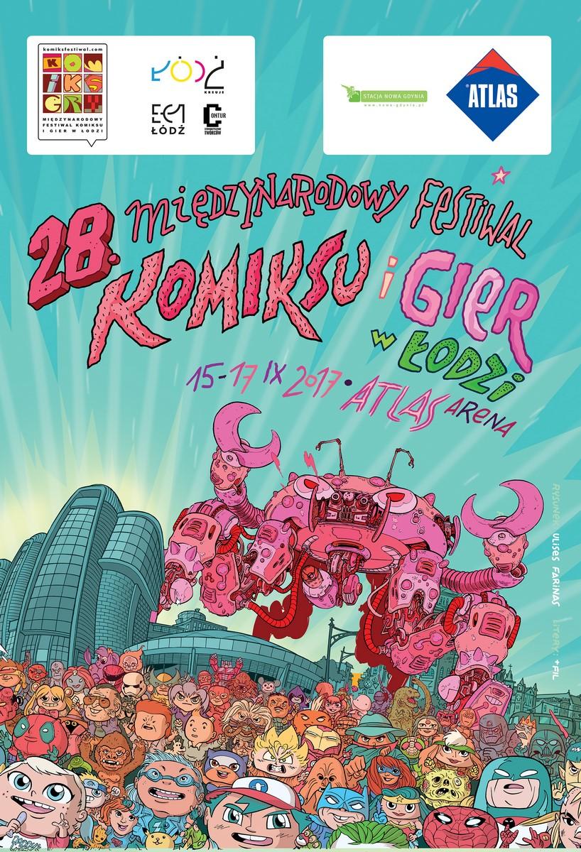 28. Międzynarodowy Festiwal Komiksu i Gier w Łodzi (źródło: materiały prasowe organizatora)