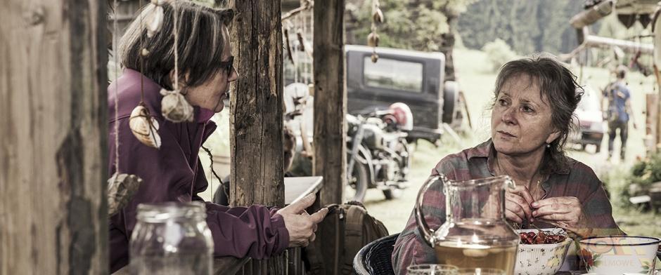 """Agnieszka Holland na planie filmu """"Pokot"""", fot. R. Palka (źródło: materiały prasowe)"""