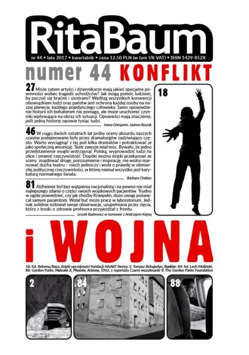 """""""Rita Baum"""", nr 44 (lato 2017) – okładka (źródło: materiały prasowe wydawcy)"""