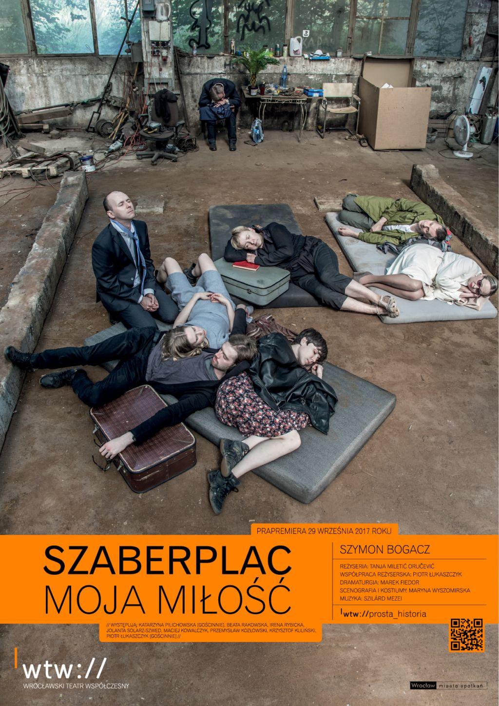 """Szymon Bogacz, """"Szaberplac, moja miłość"""", reż. Tanja Miletić Oručević (źródło: materiały prasowe teatru)"""