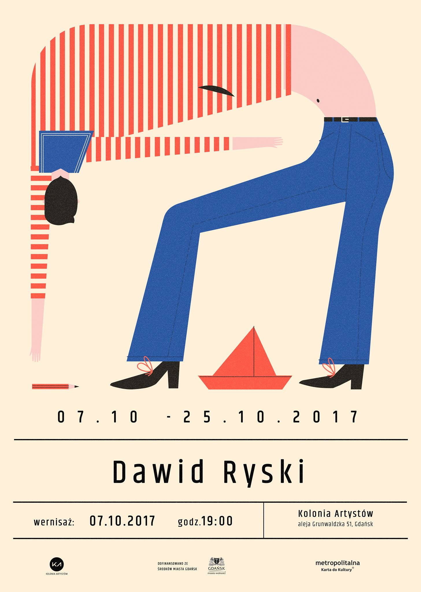 """Wystawa Dawida Ryskiego """"gigposters"""" – plakat (źródło: materiały prasowe organizatora)"""