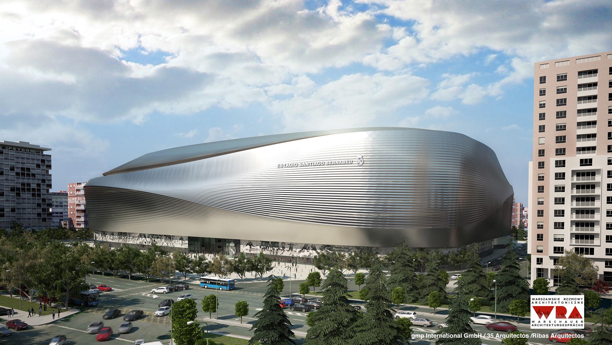 Wizualizacja: Estadio Santiago Bernabéu, proj. gmp International GmbH, 35 Arquitectos, Ribas Arquitectos (źródło: materiały prasowe organizatora)