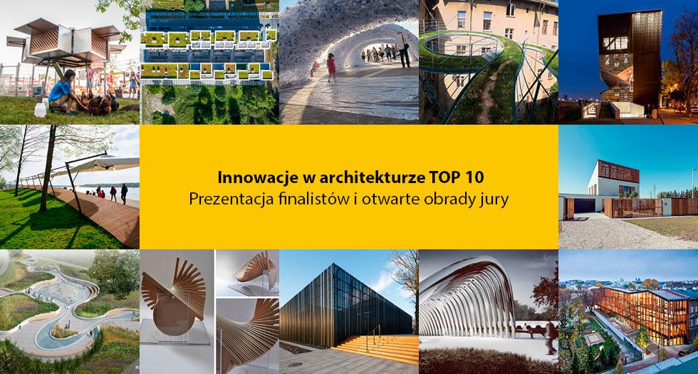 Projekty finalistów konkursu Innowacje w Architekturze (źródło: materiały organizacyjne organizatora)