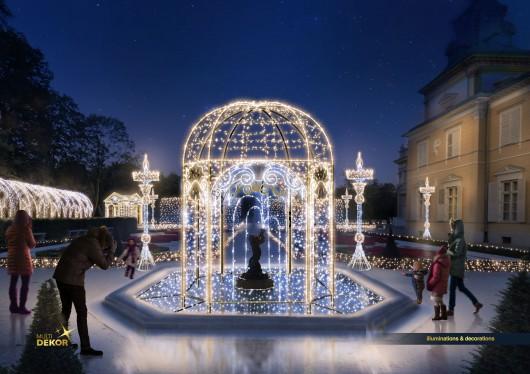 Królewski Ogród Światła – wizualizacja (źródło: materiały prasowe organizatora)