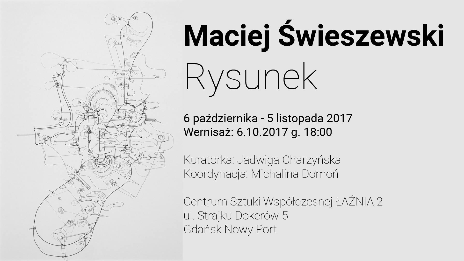 """""""Maciej Świeszewski. Rysunki"""" (źródło: materiały prasowe organizatora)"""