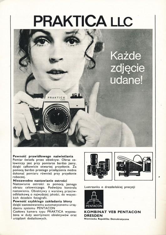 """Miesięcznik """"Fotografia"""", reklama prasowa (źródło: materiały prasowe organizatora)"""