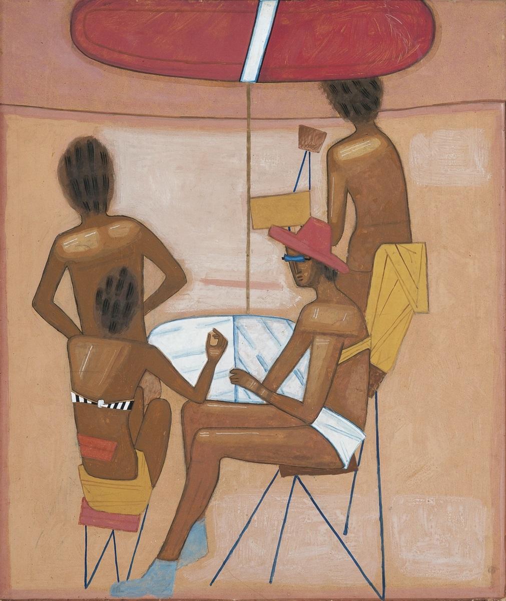 """Jerzy Nowosielski, """"Na plaży"""", ok. 1963 (źródło: materiały prasowe organizatora)"""