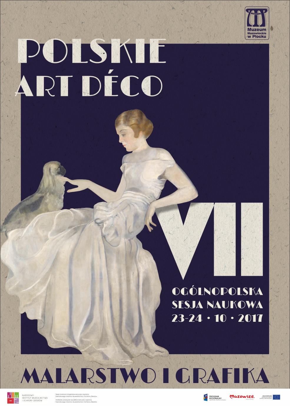 VII Ogólnopolska Sesja Naukowa Polskie Art Déco. Malarstwo i Grafika – plakat (źródło: materiały prasowe organizatora)