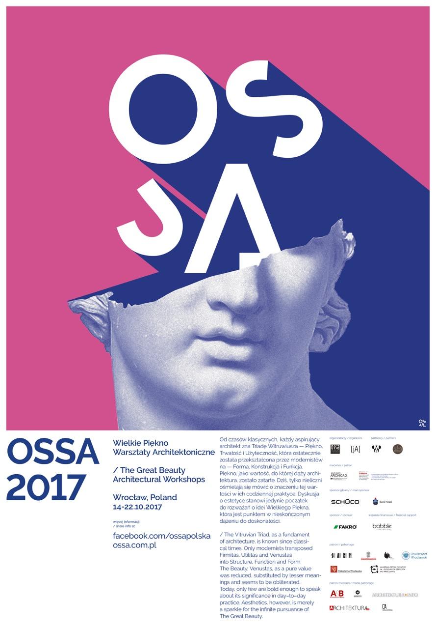 """Ogólnopolskie Spotkania Studentów Architektury 2017 """"Wielkie Piękno"""" – plakat (źródło: materiały prasowe organizatora)"""