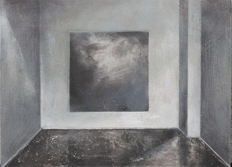 "Łukasz Huculak, ""Sublime"", 30 x 40 cm, tempera na desce, 2016 (źródło: materiały prasowe organizatora)"