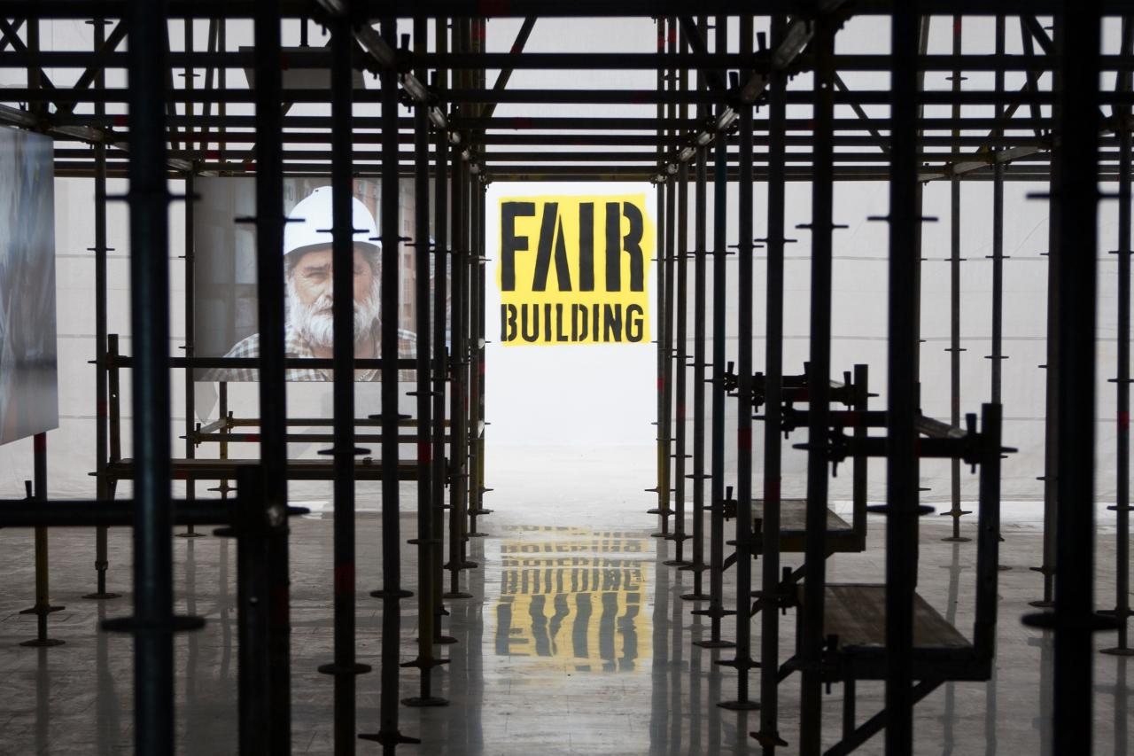 """""""Fair Building"""", Pawilon Polski na Biennale Architektury 2016 (źródło: materiały prasowe organizatora)"""