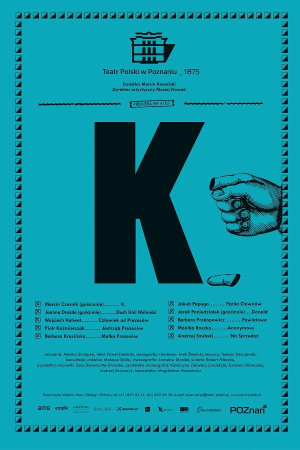 """""""K."""", Teatr Polski w Poznaniu (źródło: materiały prasowe organizatora)"""