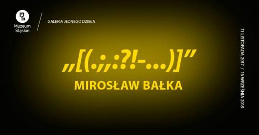 Instalacja Mirosława Bałki w Galerii jednego dzieła (źródło: materiały prasowe)