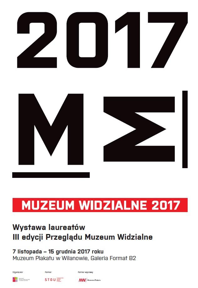 Plakat III Przeglądu Muzeum Widzialne (źródło: materiały prasowe organizatora)