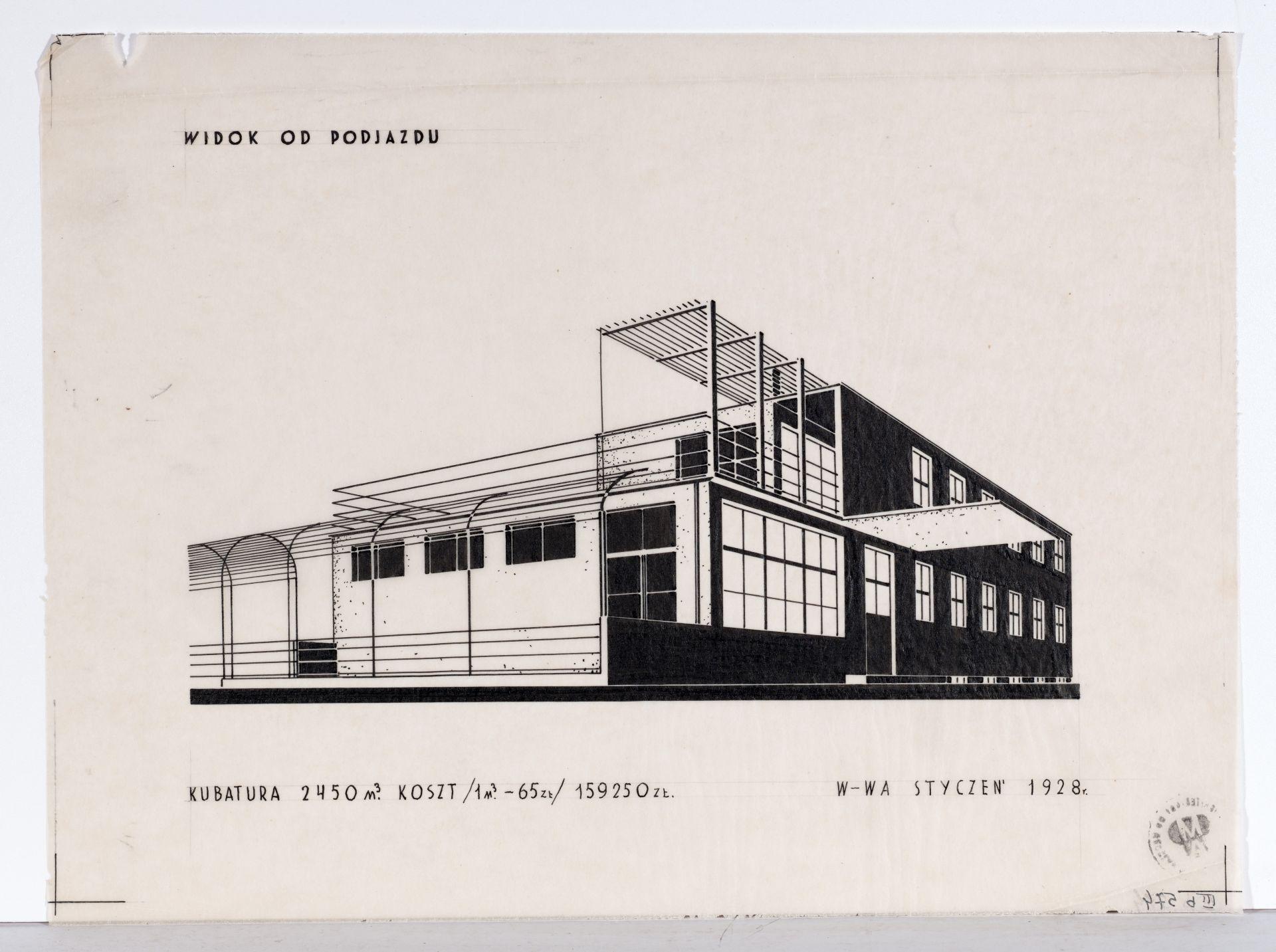 """Bohdan Lachert i Józef Szanajca, projekt domu nowicjatu sióstr ewangelickich """"Tabita"""", 1928, Muzeum Architektury we Wrocławiu (źródło: materiały prasowe organizatora)"""