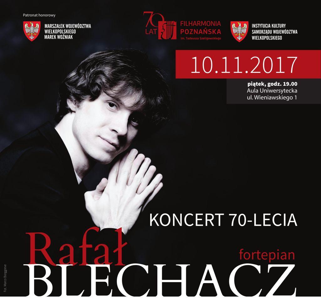 """Rafał Blechacz, """"Koncert na 70-lecie Filharmonii Poznańskiej"""" (źródło: materiały pasowe organizatora)"""