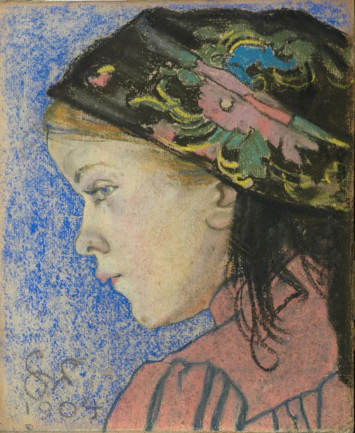 """Stanisław Wyspiański, """"Dziewczynka w krakowskiej huście"""", 1904, Muzeum im. Jacka Malczewskiego w Radomiu (źródło: materiały prasowe organizatora)"""