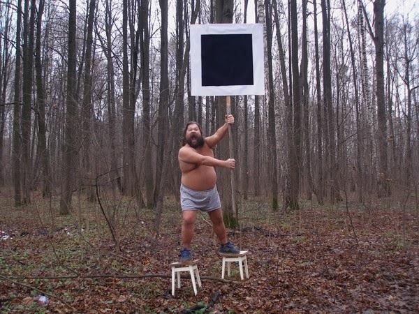 "Blue Noses, ""Suprematist Bannermen"", 2006, video still (źródło: materiały prasowe organizatora)"