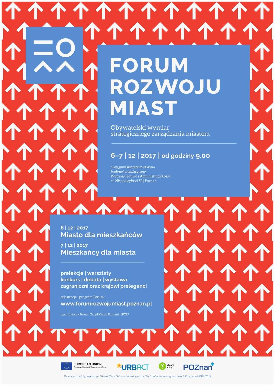 Plakat Forum Rozwoju Miast (źródło: materiały prasowe organizatora)