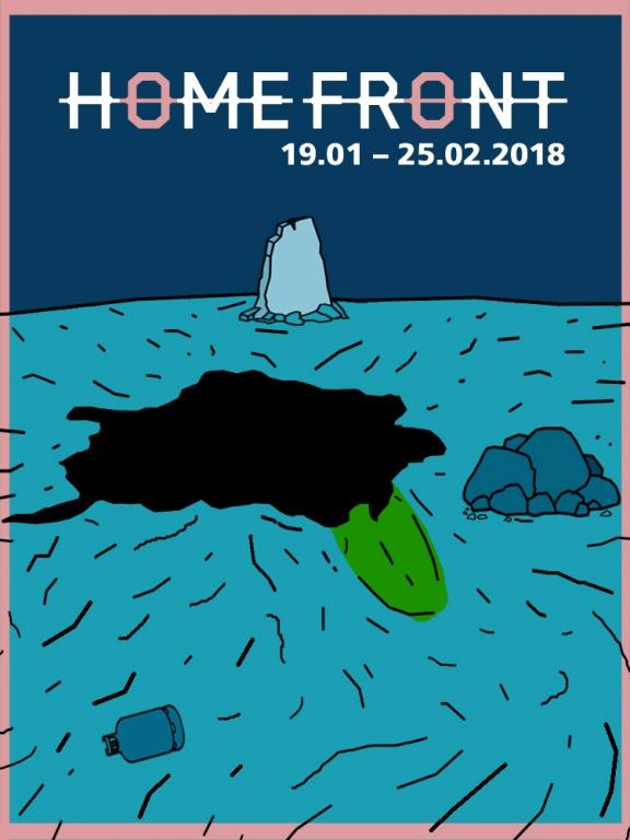 """Plakat wystawy """"Homefront"""" (źródło; materiały prasowe organizatora)"""