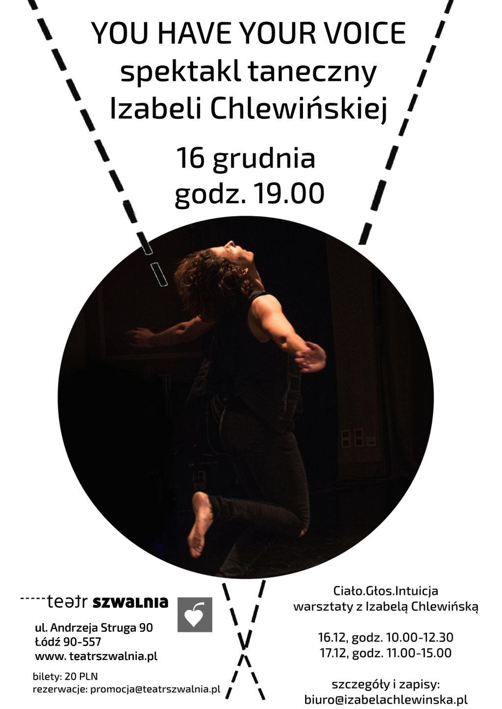 """Izabela Chlewińska, """"You Have Your Voice"""" (źródło: materiały prasowe teatru)"""
