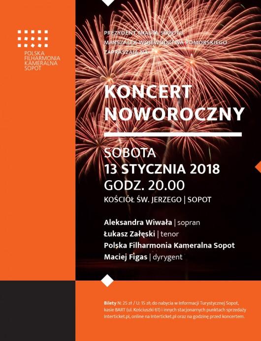 Plakat Koncertu Noworocznego (źródło: materiały prasowe organizatora)