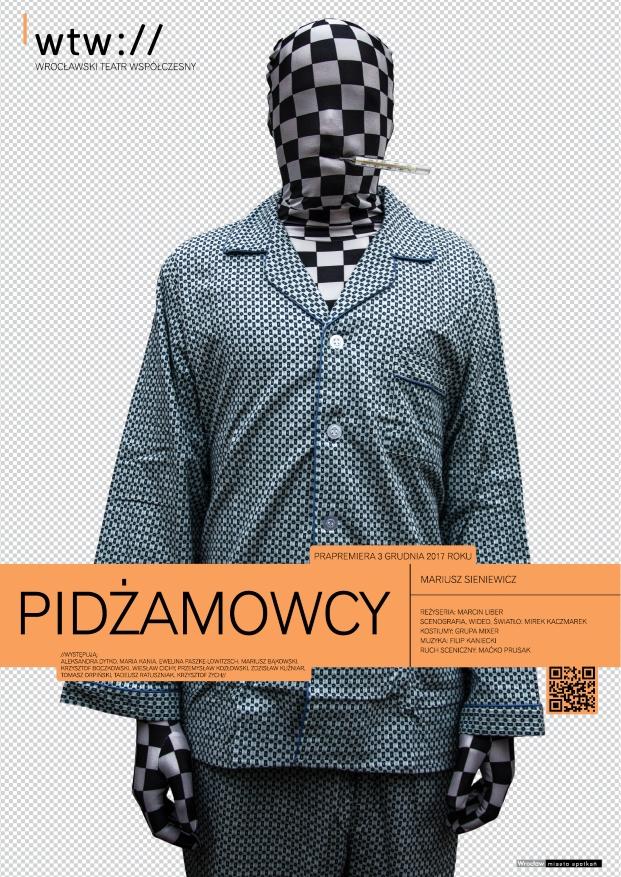 """Mariusz Sieniewicz, """"Pidżamowcy"""" (źródło: materiały prasowe teatru)"""