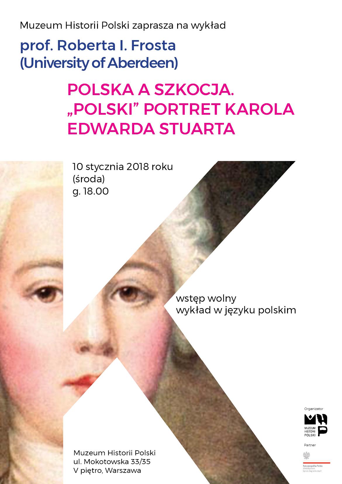 Zaproszenie na wykład w Muzeum Historii Polski (źródło: materiały prasowe)