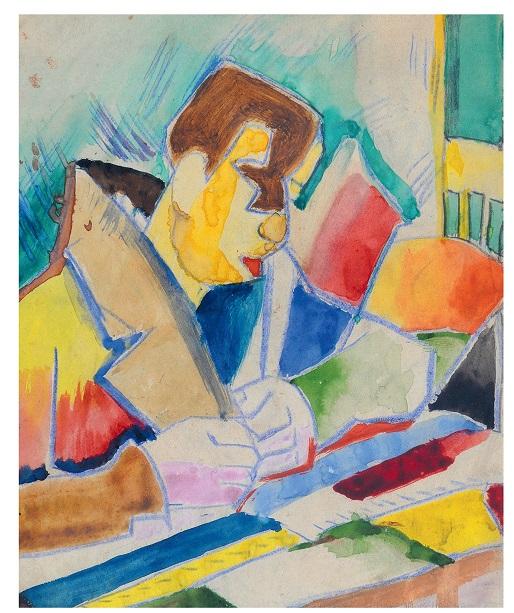 """B. Stawiński, """"Czytający"""", ok. 1935 (źródło: materiały prasowe organizatora)"""