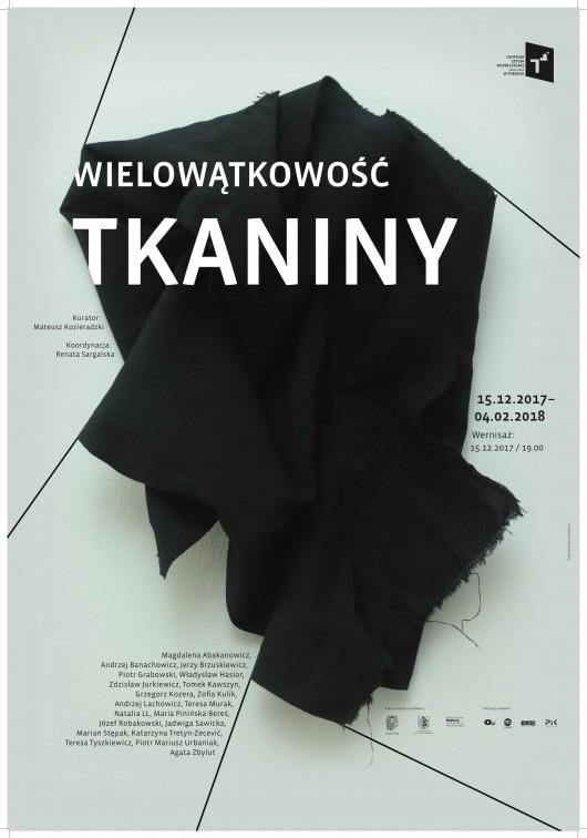"""""""Wielowątkowość tkaniny"""" – plakat (źródło: materiały prasowe)"""