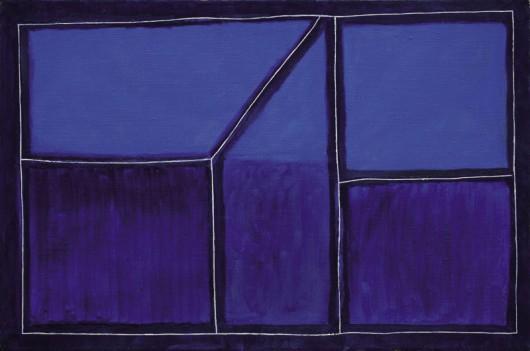 """Andrzej Łobodziński, """"1997 E"""", 1997, olej, płótno, 64x96, fot. Archiwum MGSŁ (źródło: materiały prasowe organizatora)"""