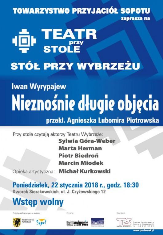 """Iwan Wyrypajew, """"Nieznośnie długie objęcia"""" (źródło: materiały prasowe organizatora)"""