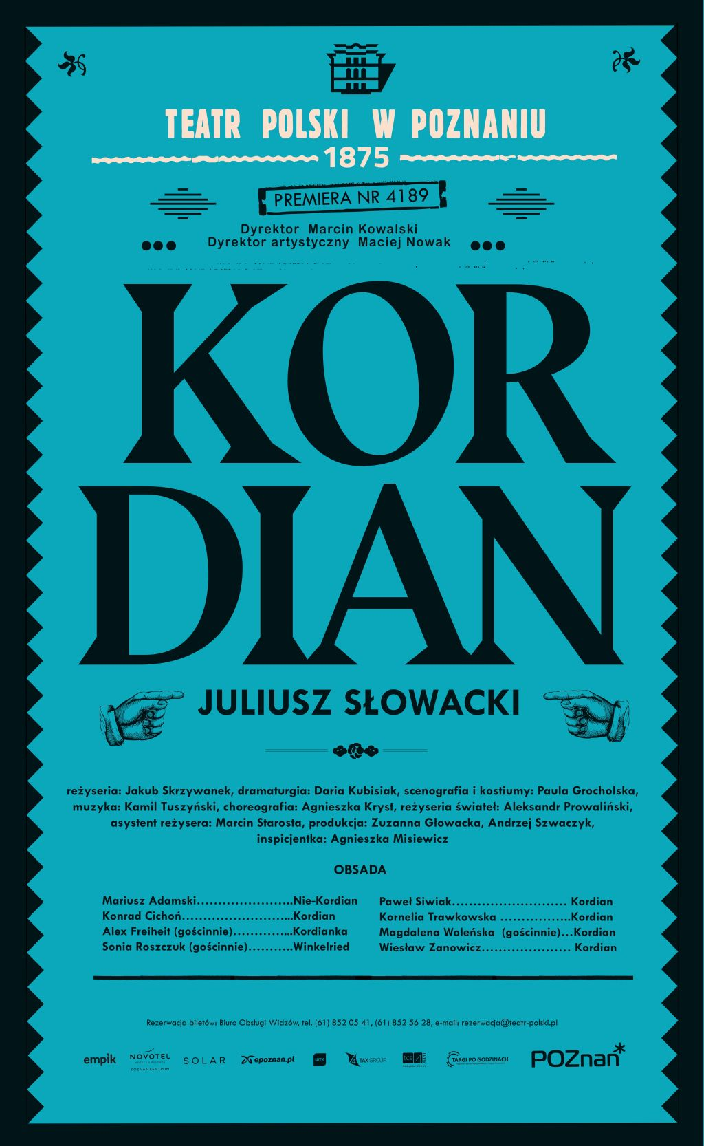 """Juliusz Słowacki, """"Kordian"""" (źródło: materiały prasowe teatru)"""