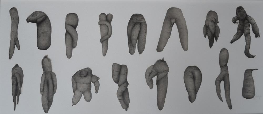 """Paulina Poczęta, """"Odrobina człowieczeństwa"""", 2015, rysunek (źródło: materiały prasowe organizatora)"""