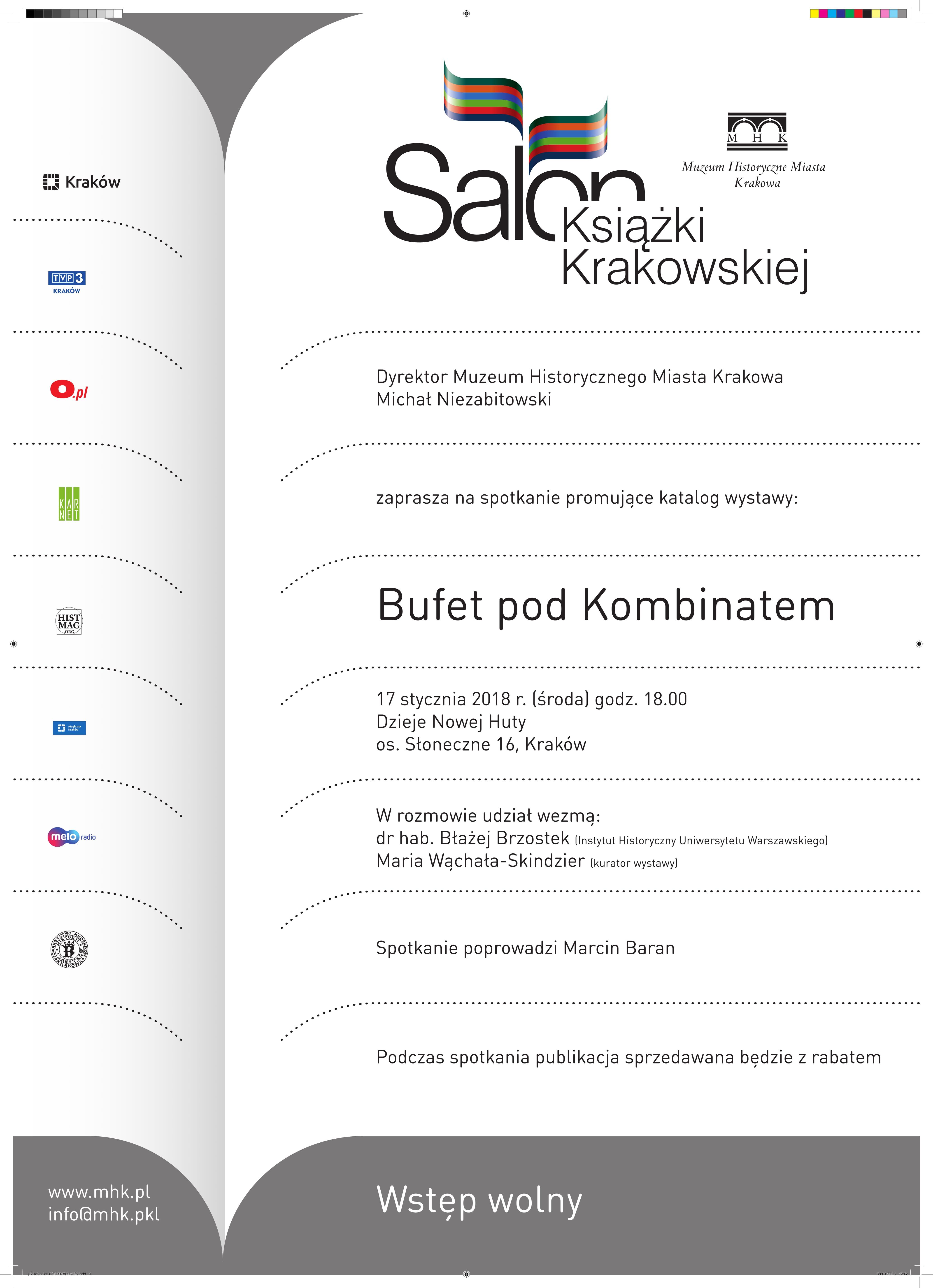 """""""Salon Książki Krakowskiej"""" – plakat (źródło: materiały prasowe organizatora)"""
