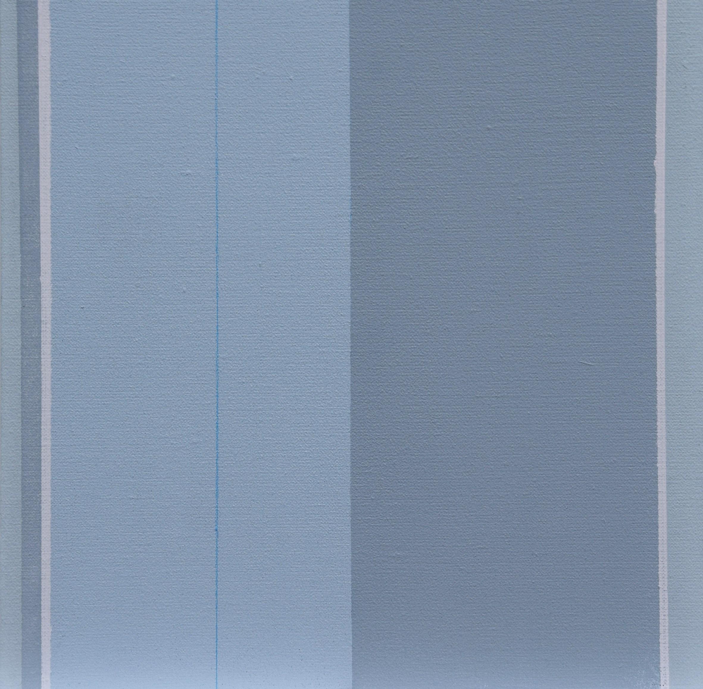 """Urszula Ślusarczyk, """"XXV"""", mixed media, płótno, 30 x 30 cm, 2017 (źródło: materiały prasowe organizatora)"""