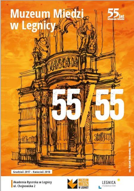 """Plakat wystawy """"55/55"""" (źródło: materiały prasowe organizatora)"""
