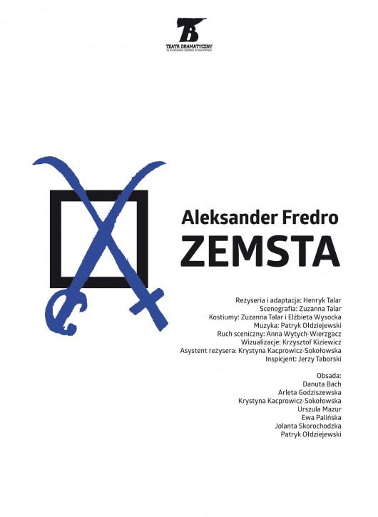 """Aleksander Fredro, """"Zemsta"""", reż. Henryk Talar (źródło: materiały prasowe teatru)"""