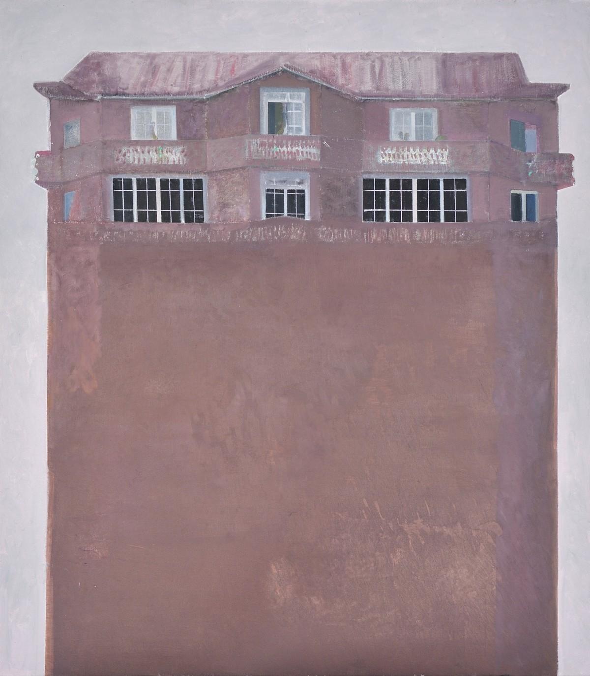 """Edi Hila, """"Penthaus 5"""", olej, płótno, 116 x 102 cm. Fot. Rebecca Fanuele. Dzięki uprzejmości Galerii Mitterrand w Paryżu © Edi Hila (źródło: materiały prasowe organizatora)"""