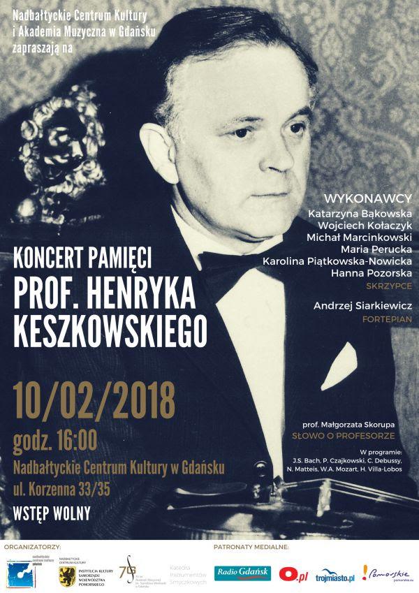Koncert pamięci prof. Henryka Keszkowskiego (źródło: materiały prasowe organizatora)