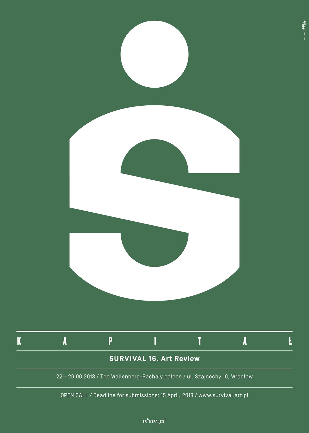 Plakat konkursu 16. Przeglądu Sztuki SURVIVAL (źródło: materiały prasowe organizatora)