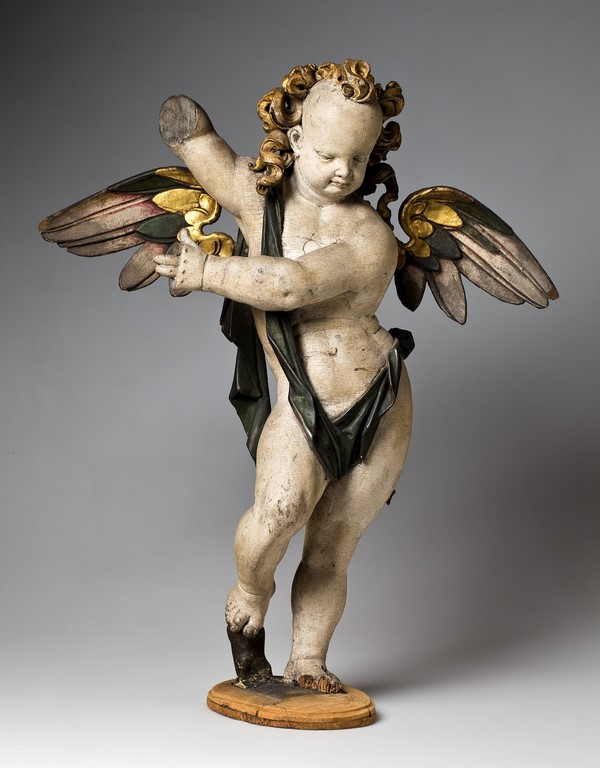 """Gerhard Hendrik, """"Figura anioła z epitafium Melchiora von Thilisch st. i jego żony Magdaleny z d. von Orth"""", 1604, Muzeum Narodowe we Wrocławiu, Fot. Arkadiusz Podstawka (źródło: materiały prasowe organizatora)"""