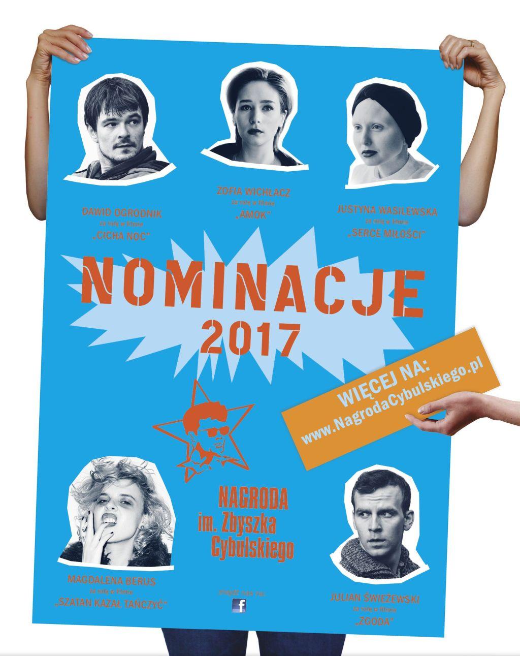 Nominacje do Nagrody im. Zbyszka Cybulskiego 2017 (źródło: materiały prasowe)