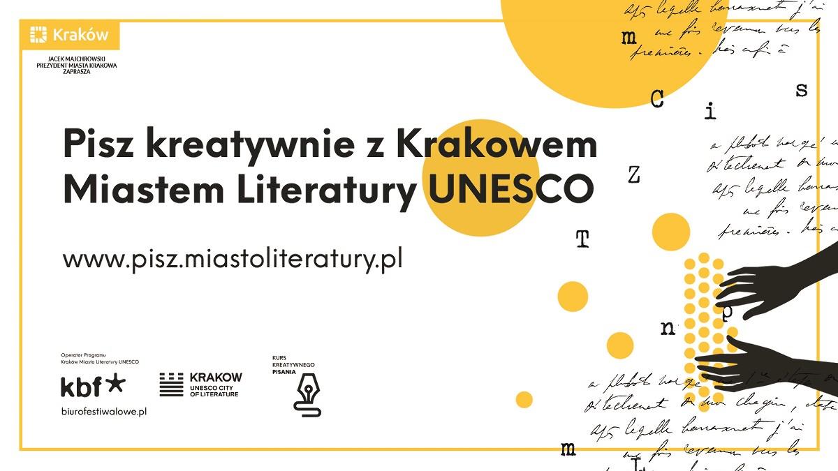 Pisz kreatywnie z Krakowem miastem literatury UNESCO (źródło: materiały prasowe organizatora)