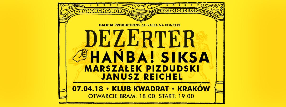 Dezerter, Hańba!, Siksa, Marszalek Pizdudski, Janusz Reichel (źródło: materiały prasowe)