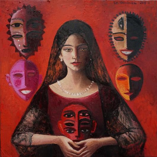 """Katarzyna Karpowicz, """"Siła kobiety"""", olej na płótnie, 50 x 50 cm, 2018 (dzięki uprzejmości artystki)"""