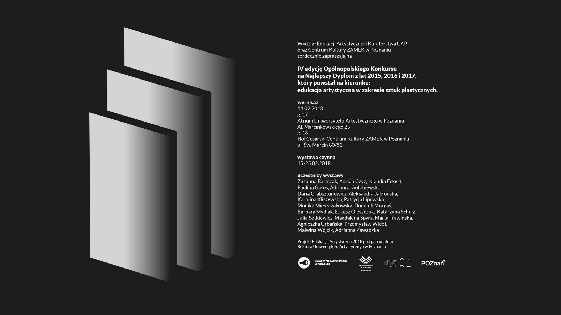 Ogólnopolski Konkurs Projekt Edukacja Artystyczna 2018 (źródło: materiały prasowe organizatora)
