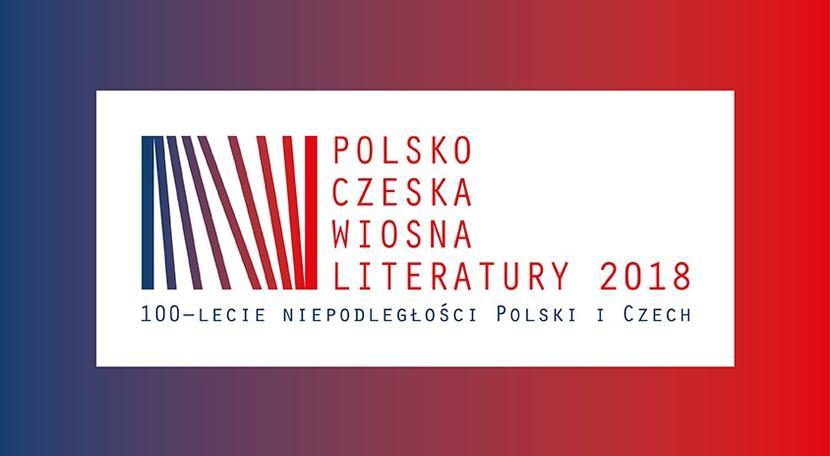 Polsko-czeska wiosna literatury, plakat, Mazowiecki Instytut Kultury, Warszawa (źródło: materiały prasowe organizatora)
